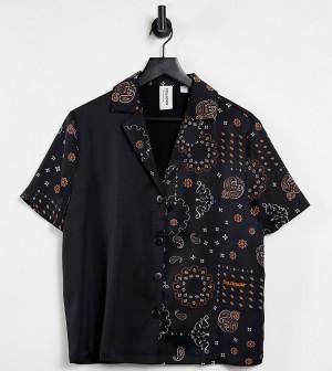 Рубашка с короткими рукавами и принтом пейсли от комплекта COLLUSION-Черный